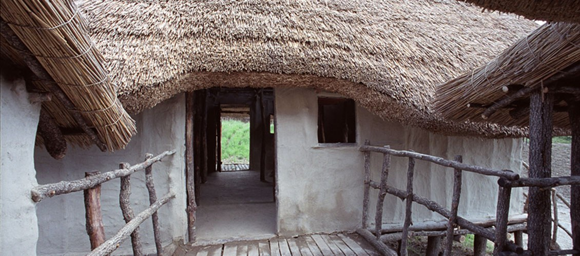 Open air museum: reconstruction of the house